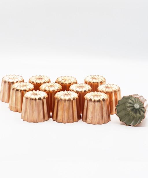 12 CANELES COPPER MOLDS